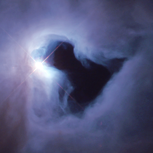 ICON -best resolution Reflection nebula in Orion - hubble 1999 copy
